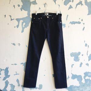 AGolde Men's Dark Wash Denim Slim Fit Stretch Jean